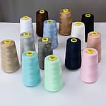 Нитки швейные 40/2, 4000 ярдов, цвета айвори (1001), фото 5