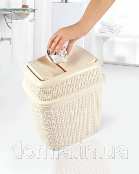 Бак для мусора вязка  (28 X 21 X 32,5 см )  10 л