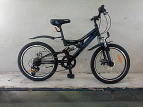 """Спортивный горный велосипед Crosser Smart 20 дюймов размер рамы 12""""  BLACK BLUE"""
