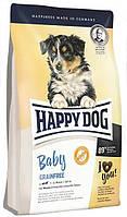 Корм беззерновой Happy Dog Baby Grainfree для юниоров средних и крупных пород собак Хэппи Дог 1 к, КОД: 1618848