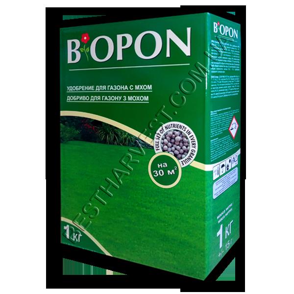 """Удобрение для газона от мха 1 кг """"Биопон"""" (Biopon), оригинал"""