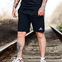 Шорты мужские трикотажные Adidas CL xx black x black / ЛЮКС качества