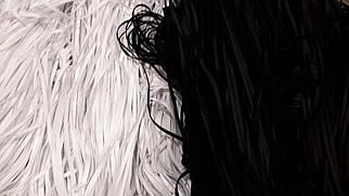 Резинка для масок  черная 4мм.  от 380м.