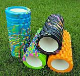 Массажер, валик, ролик массажный для спины и йоги MS 0857-1 (4 цвета), фото 4