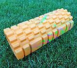 Массажер, валик, ролик массажный для спины и йоги MS 0857-1 (4 цвета), фото 5