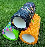 Массажер, валик, ролик массажный для спины и йоги MS 0857-1 (4 цвета), фото 6