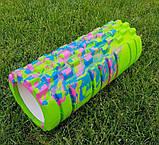 Массажер, валик, ролик массажный для спины и йоги MS 0857-1 (4 цвета), фото 8
