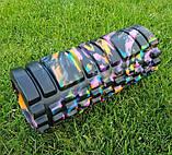 Массажер, валик, ролик массажный для спины и йоги MS 0857-1 (4 цвета), фото 9