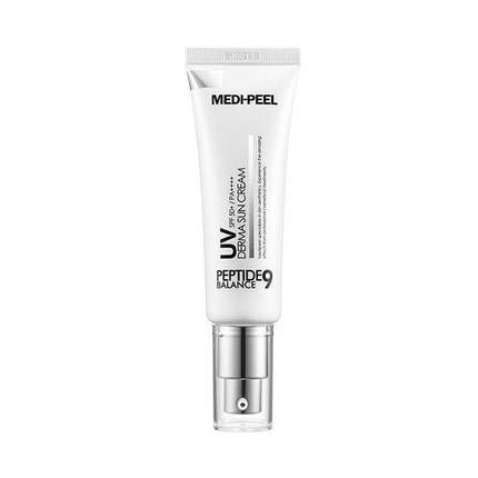 Пептидный солнцезащитный крем MEDI peel Peptide 9 UV Derma Sun Cream SPF50+/PA++++  50мл, фото 2