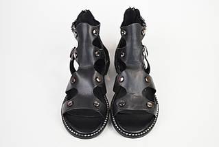 Сандалии на плоской подошве Brocoli 1685 Черные, фото 3