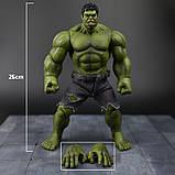 Супер-реалистичная фигурка Халка высотой 26см - Hulk, Avengers, Marvel, фото 3