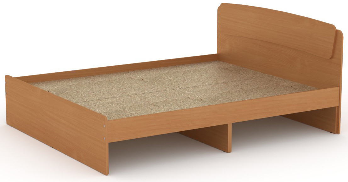 Кровать без ящиков Классика-140 КОМПАНИТ Бук (204.2х145.2х86 см)