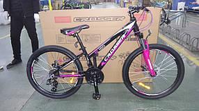 """Подростковый горный велосипед Crosser Girl 24 дюймов размер рамы 13"""" BLACL-PINK"""