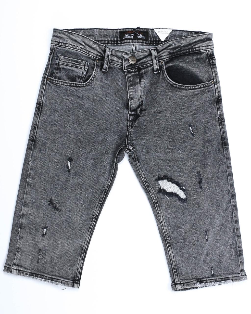 Бриджи джинс т серый MARIO MASSIMO DUTTI рваные FUME 29(Р) 0108