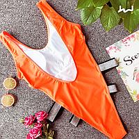 Купальник сдельный женский Lux4ika размер S Оранжевый n-291, КОД: 1624086