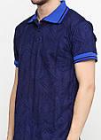 Футболка-поло мужская темно-синяя Chiarotex однотонная, фото 3