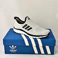 Кроссовки Adidas Сеточка Мужские Серые Летние Адидас Мокасины (размеры: 42,43,44,45) Видео Обзор