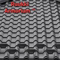 "Металлочерепица ""Ruukki Armorium"" Pural Matt 50 plus RR 33 чёрная."