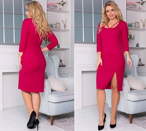 Платье миди с разрезом на ноге, фото 2