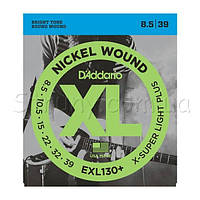D'Addario EXL130+ Nickel Wound Extra-Super Light Plus 8.5/39