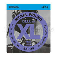 D'Addario EXL115 Nickel Wound Medium/Blues-Jazz Rock 11/49