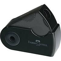 Точилка Faber-Castell Mini Sleeve з контейнером на один отвір чорна, фото 1
