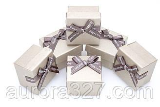 Паперова коробка для кілець бронзовий.