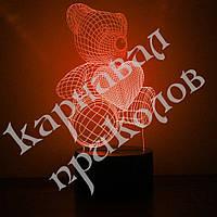 3D Светильник Мишка 5-1, фото 1