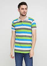 Футболка-поло мужская цветная Chiarotex в полоску