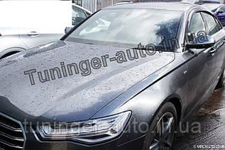 Ветровики, дефлекторы окон Audi A6 2011-2018 (Autoclover/Корея) D739
