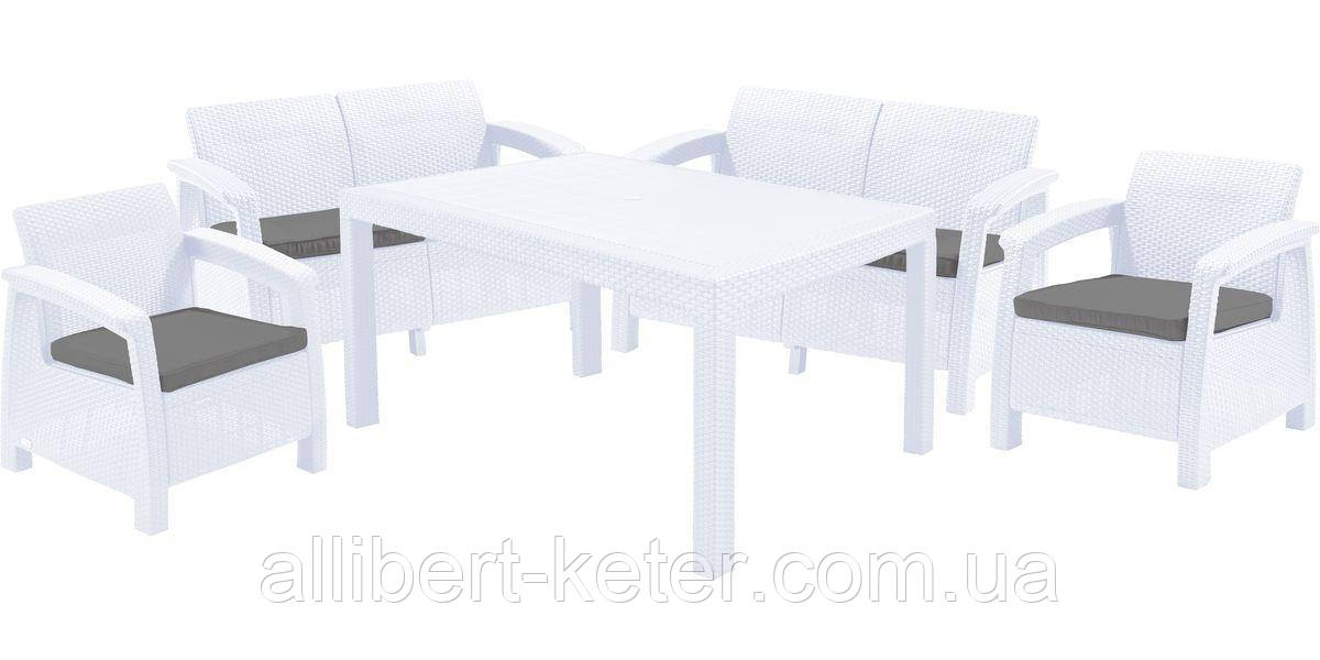 Комплект садовой мебели Allibert by Keter Corfu Fiesta Set White ( белый )
