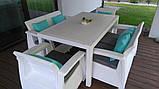 Комплект садовой мебели Allibert by Keter Corfu Fiesta Set White ( белый ), фото 5