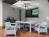 Комплект садовой мебели Allibert by Keter Corfu Fiesta Set White ( белый ), фото 10