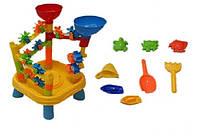 Игрушечный столик для песка и воды 979 A с мельницей-лабиринтом