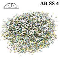 Камни Стразы для Ногтей 50 штук Crystal AB SS 4 Хамелеон Бензин Diamond, Материалы для Дизайна Ногтей, Маникюр
