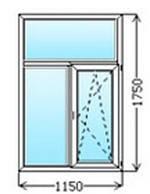 Окно металлопластиковое 1150х1750 от Службы комфорта СВС