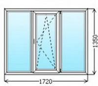 Окно металлопластиковое 1720х1350 от Службы комфорта СВС