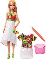 Кукла Барби Фруктовый сюрприз Крайола Barbie Crayola Rainbow Fruit Surprise GBK18 Блондинка