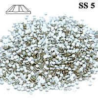 Набор Стразы для Ногтей 50 шт. Crystal SS 5 Diamond Серебристо Прозрачные, Материалы для Дизайна Ногтей