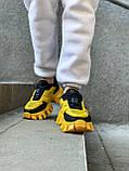 Женские кроссовки Prada Cloudbust Sneakers PA100 желто-черные, фото 3