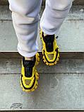 Женские кроссовки Prada Cloudbust Sneakers PA100 желто-черные, фото 4