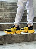 Женские кроссовки Prada Cloudbust Sneakers PA100 желто-черные, фото 2