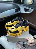 Женские кроссовки Prada Cloudbust Sneakers PA100 желто-черные, фото 5