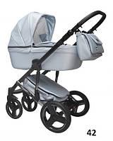 Универсальная детская коляска 2в1 Mikrus Hugo Silver 42 (Жемчуг)