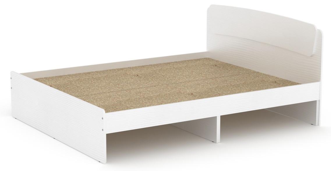 Кровать без ящиков Классика-160 КОМПАНИТ нимфея альба (белый)  (204.2х165.2х86 см)