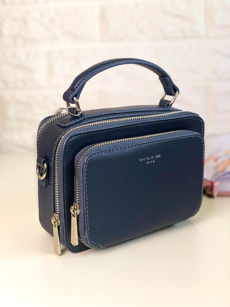 Женская сумка кросс-боди David Jones CM3966 Синяя