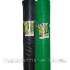 Сітка вольерная 1,5х100 м,осередок 12х14 мм (чорна,зелена).Паркани садові,пластикові сітки.
