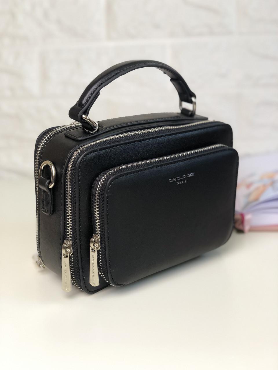 Женская сумка кросс-боди David Jones CM3966 Черная