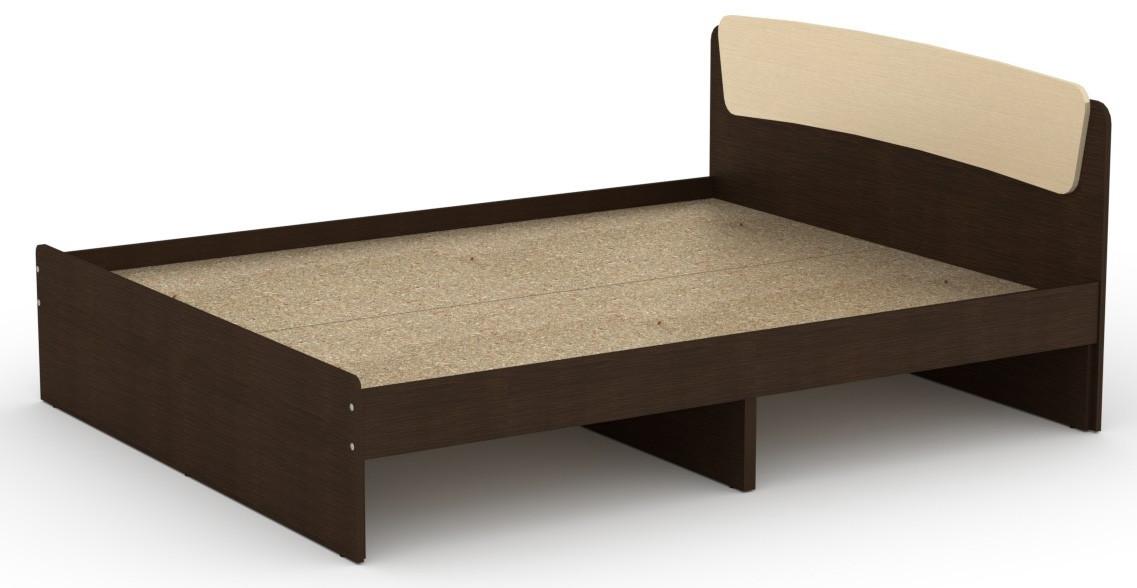 Кровать без ящиков Классика-160 КОМПАНИТ Венге комби (204.2х165.2х86 см)