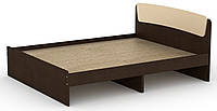 Кровать без ящиков Классика-160 КОМПАНИТ Венге комби (204.2х165.2х86 см), фото 1